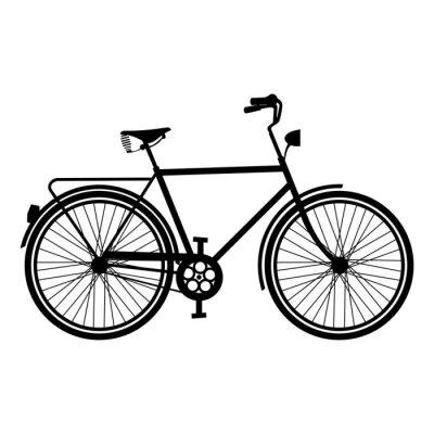 Naklejka Vintage sylwetka izolowane Rower Rower