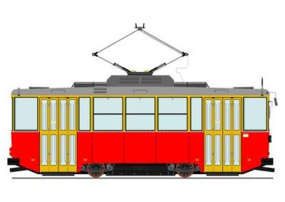 Naklejka Vintage tramwaj