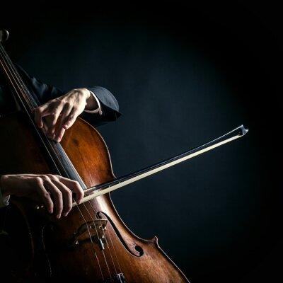 Naklejka Vintage wiolonczela