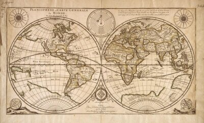 Naklejka Vintage World map