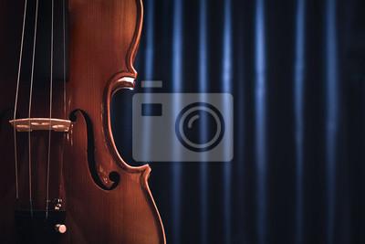 Naklejka Violin. Cello. Classical music.