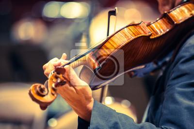 Naklejka violon Classique instrumentem musique Violoniste Corde musicien