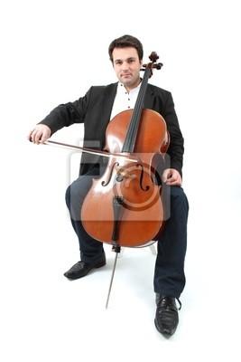 Naklejka violoncelliste