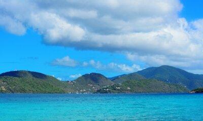 Naklejka Virgin Islands Plaża