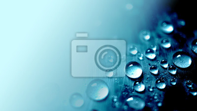 Naklejka vivid blue water drop texture background for cold , freshness and drinking concept