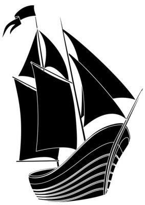Naklejka voilier