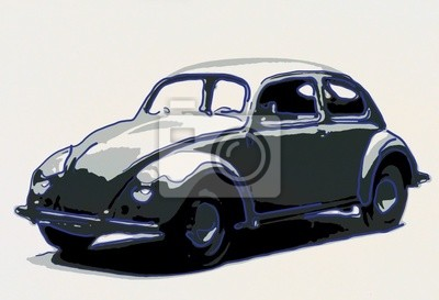 Naklejka volkswagen ilustracji