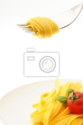 Walcowane na spaghetti na widelec