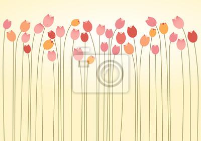 Naklejka Warstwa Tulipany poziomy