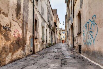 Naklejka wąska uliczka na Starym Mieście