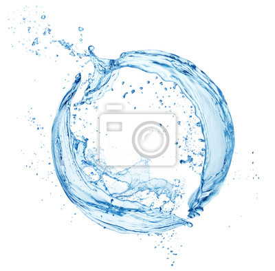 Naklejka water splash isolated on white background