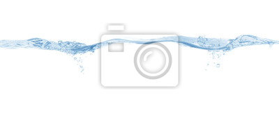 Naklejka water splash isolated on white background,beautiful splashes a clean water