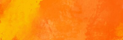 Naklejka Watercolor red and orange color abstract banner.