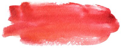 Naklejka watercolor stain red banner on white background