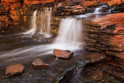 Naklejka Waterfall in the Hancock Gorge, Karijini NP, Western Australia