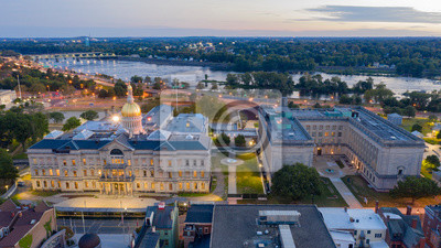 Naklejka Waterfront Section Trenton New Jersey Delaware River and Capital Statehouse