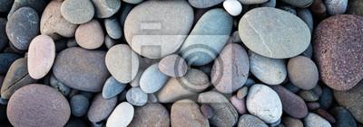 Naklejka Web banner streszczenie gładkie okrągłe kamyki morze tekstura tło