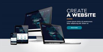 Naklejka web page design