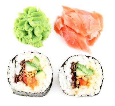 Naklejka Wegetariańskie sushi na białym
