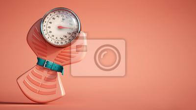 Naklejka Weight scale diet red