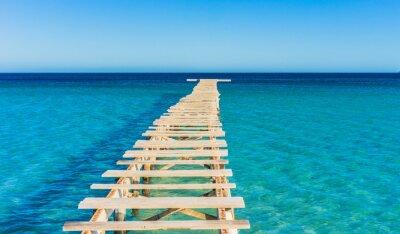 Naklejka Weite Meer Ozean Holz Steg kaputt