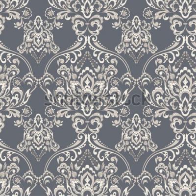 Naklejka Wektor barokowy kwiatowy wzór. klasyczny ornament kwiatowy. vintage tekstury tapety, tekstylia, tkaniny