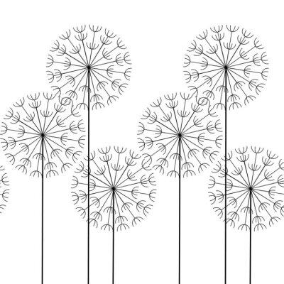 Naklejka Wektor bez szwu deseń abstrakcyjne dmuchawce