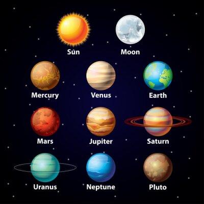 Naklejka Wektor błyszczący zestaw planety