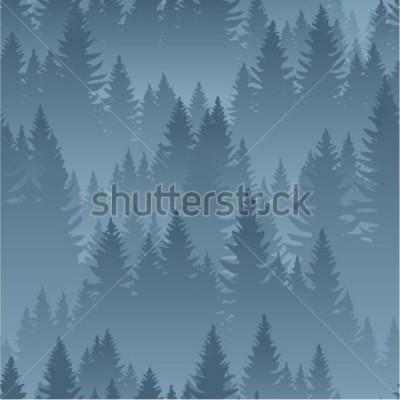 Naklejka wektor góry las tekstura tło wzór