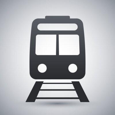Naklejka Wektor ikona pociągu