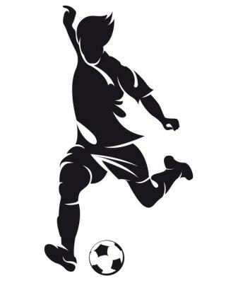Naklejka Wektor piłka nożna (soccer) sylwetka gracza z ball samodzielnie