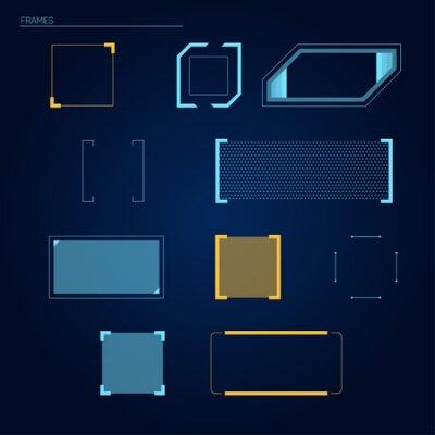 Naklejka Wektor ramki elementy futurystyczne dotykowym HUD (HUD) interfejsu