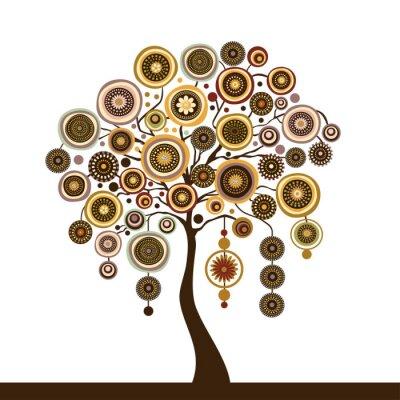 Naklejka Wektor stylizowane drzewo