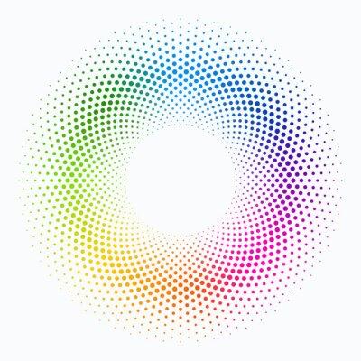 Naklejka Wektor tła #Colorful Grochy okrąg