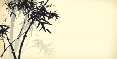 Naklejka Wektor tła z bambusa oddziałów