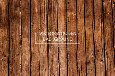 Naklejka Wektor tle drewnianych. Brązowy Drewno desek.