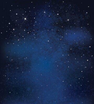Naklejka Wektor tło nocy gwiaździste niebo.