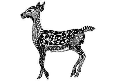 Naklejka Wektor Zentangle Deer