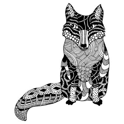 Naklejka Wektor Zentangle Fox