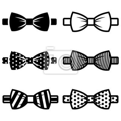 Naklejka wektor zestaw ikon Black bow ties