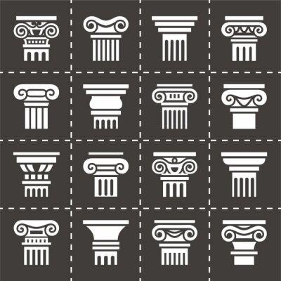 Naklejka Wektor zestaw ikon Kolumna