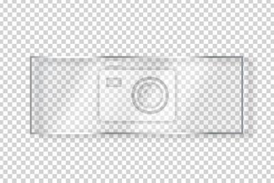 Naklejka Wektorowy realistyczny odosobniony szklany prostokąta billboard dla dekoraci i nakrycia na przejrzystym tle.