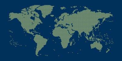 Naklejka Weltkarte aus Punkten im Detail