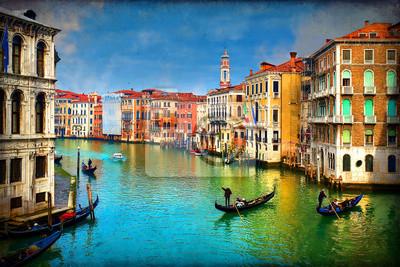 Wenecja - gondole na Canal Grande