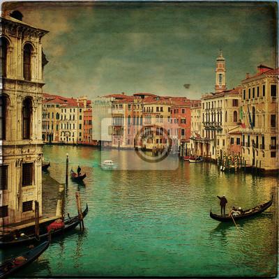 Wenecja - Gondole w Canal Grande