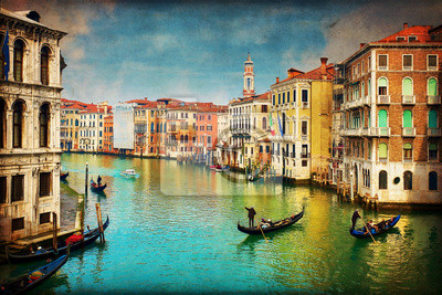 Wenecja - Gondole w Grand Canal