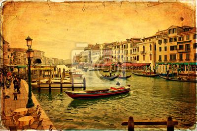 Wenecja - stary papier - stare karty