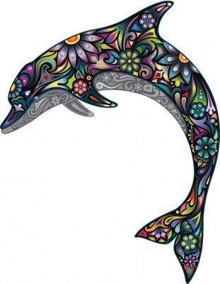 Naklejka Wesoły delfin