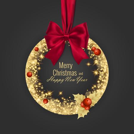 Naklejka Wesołych Świąt i szczęśliwego nowego roku 2018 kartkę z życzeniami, ilustracji wektorowych