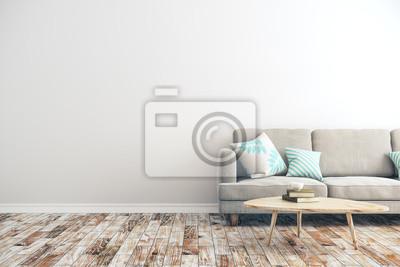 Naklejka White concrete living room